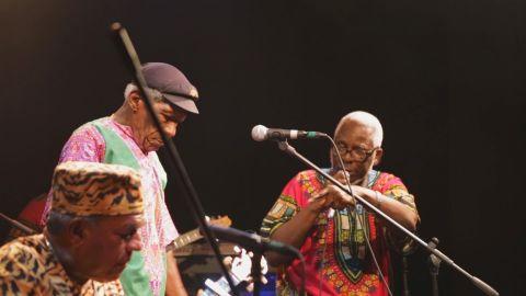 Leslie George, su pasión fue la música.Compartió su sapiencia. El Calypso pierde uno de sus grandes exponentes. Foto: Cortesía IFF Panama 2018